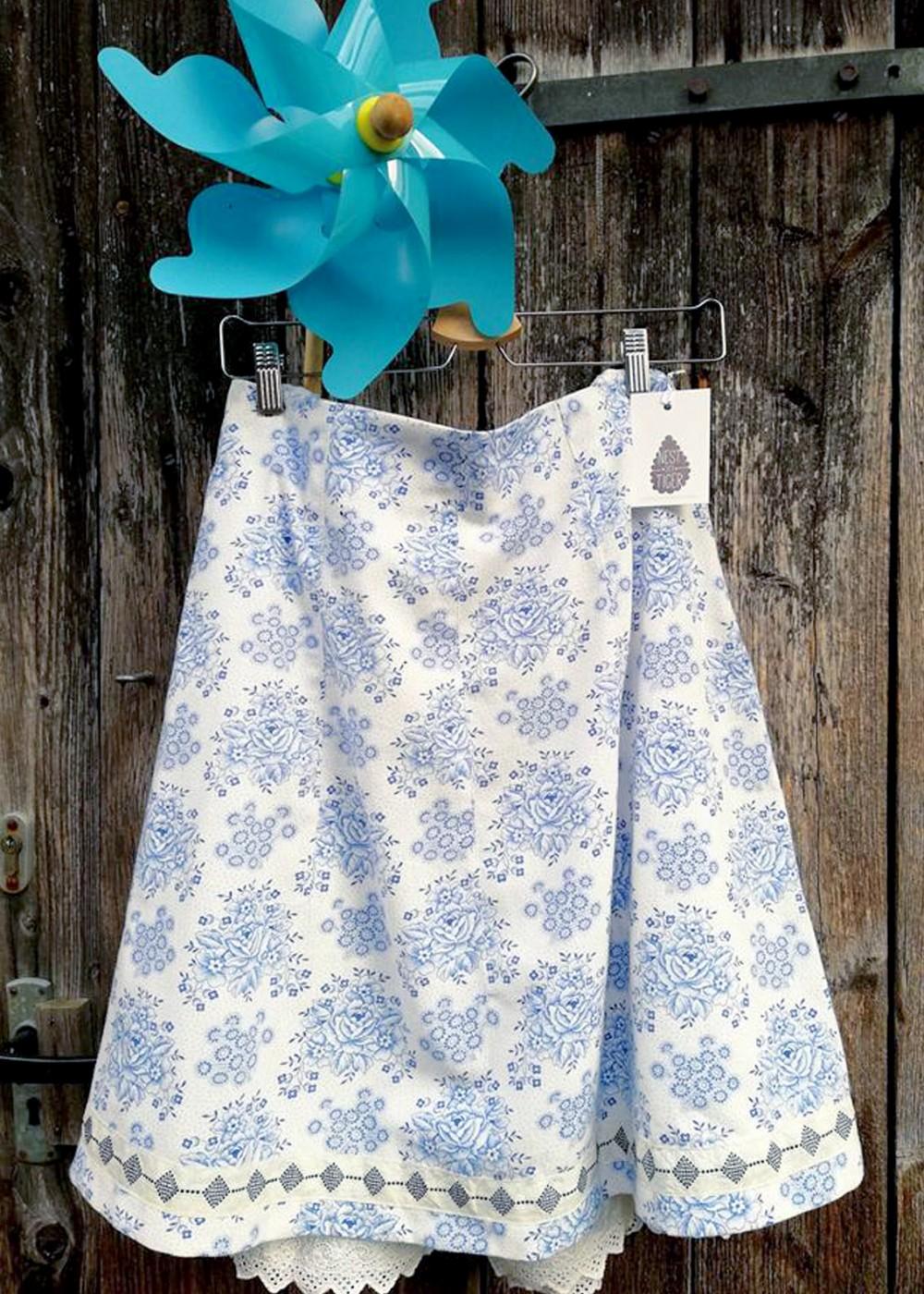 Sommerrock Blütenblau